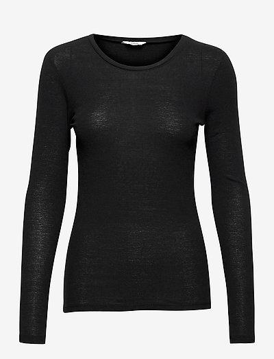ENVELDA LS TEE 5328 - t-shirt & tops - black
