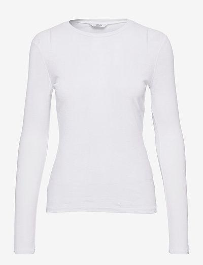 ENVELDA LS TEE 5328 - t-shirt & tops - white