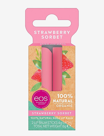 Organic Strawberry Sorbet Duo Stick Box - hudplejesæt - clear