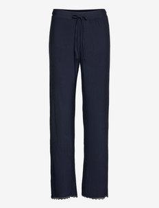 Nightpants - straight leg hosen - navy