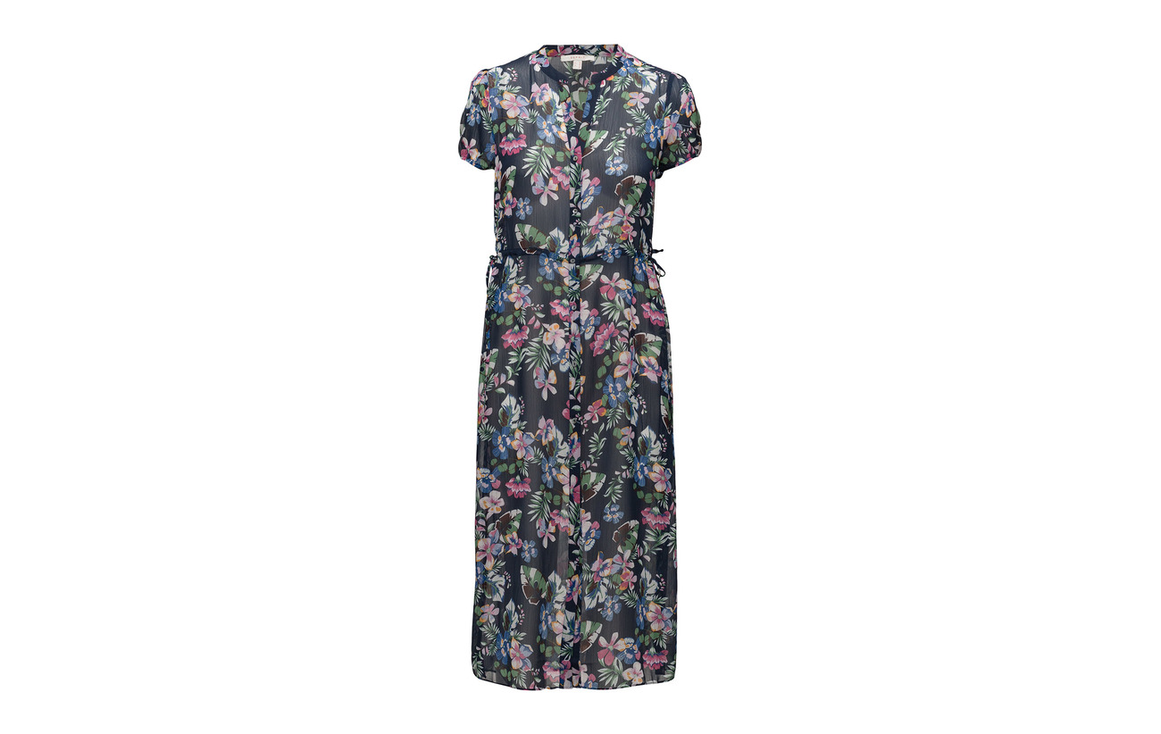 100 Light Polyester Casual Navy Woven Esprit Dresses 7qxfwUyP