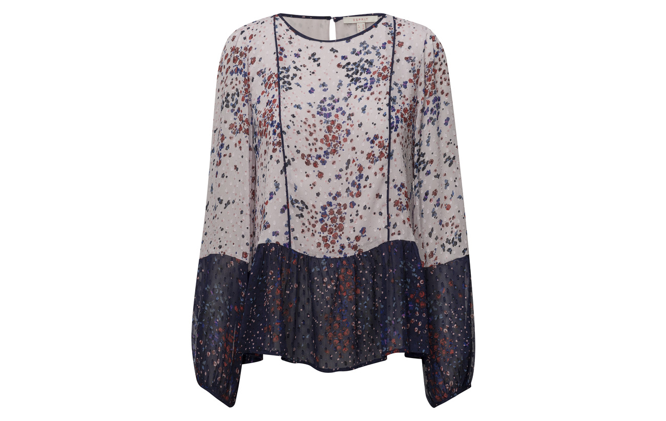 100 Esprit Woven Casual Navy Polyester Blouses qIxT6IBwS