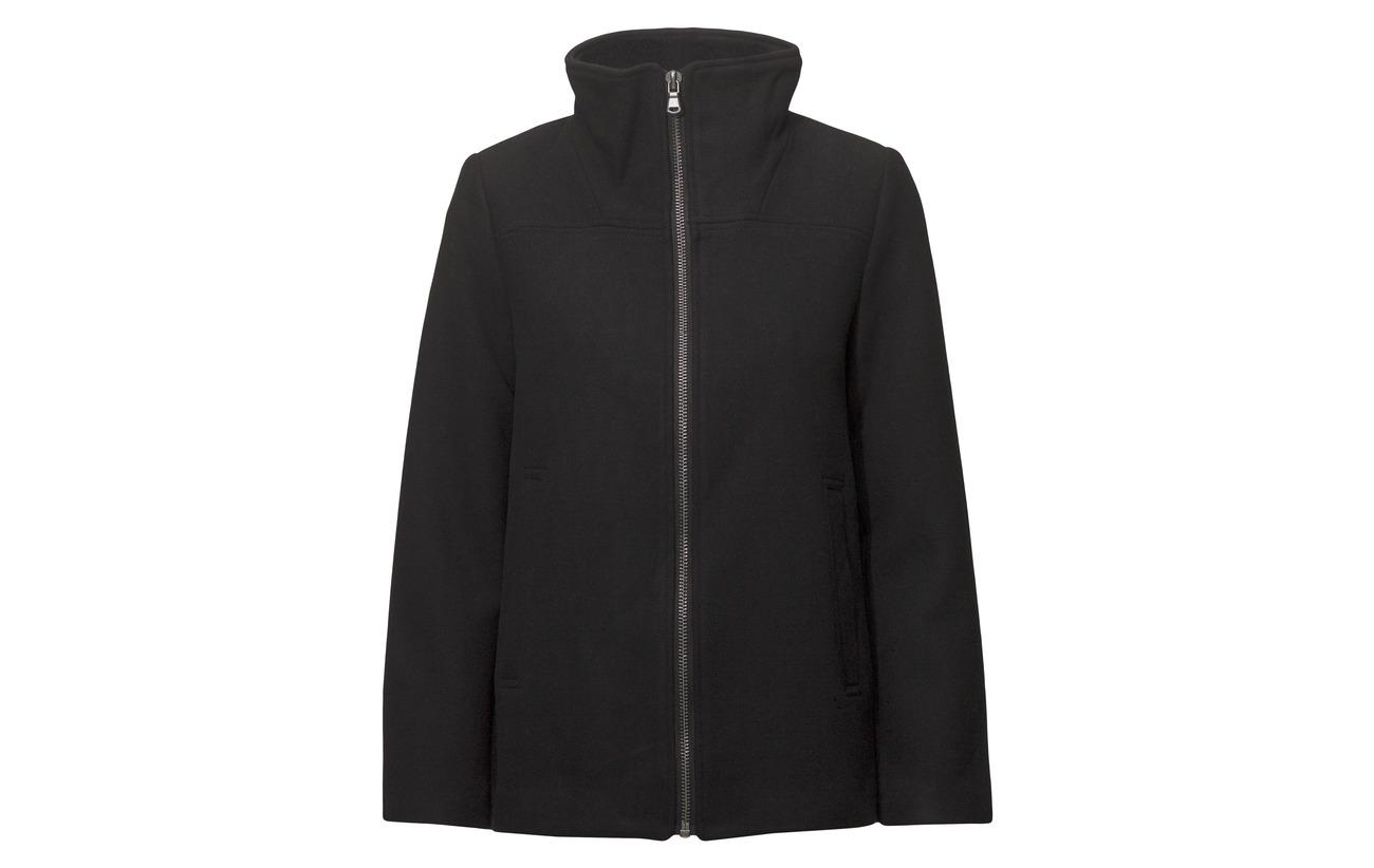 Laine Esprit Outdoor Jackets Black 35 Polyacrylonitrile Fabrics Woven Other 55 5 Casual Polyester nrTAHxn