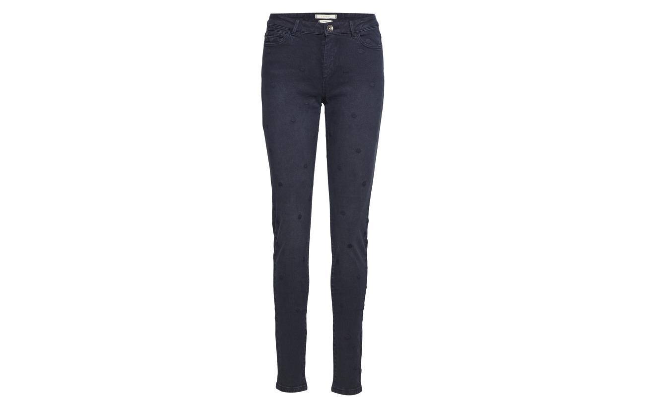 Elastane Esprit 98 Pants Navy Casual Coton Woven 2 0Zgaq