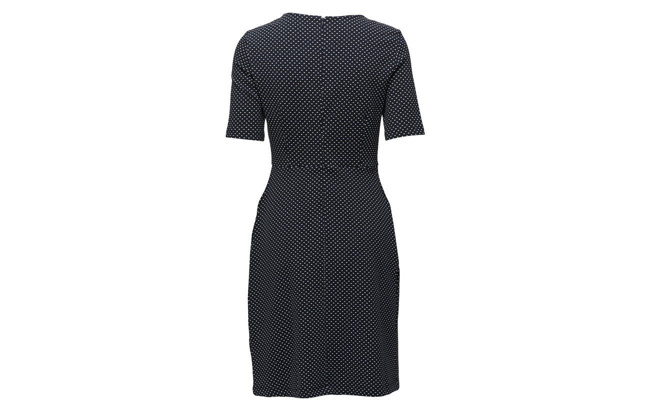 10 Knitted Esprit Viscose Elastane 12 Coton Casual Dresses Navy 3 Polyester 75 fwxTAw8qE