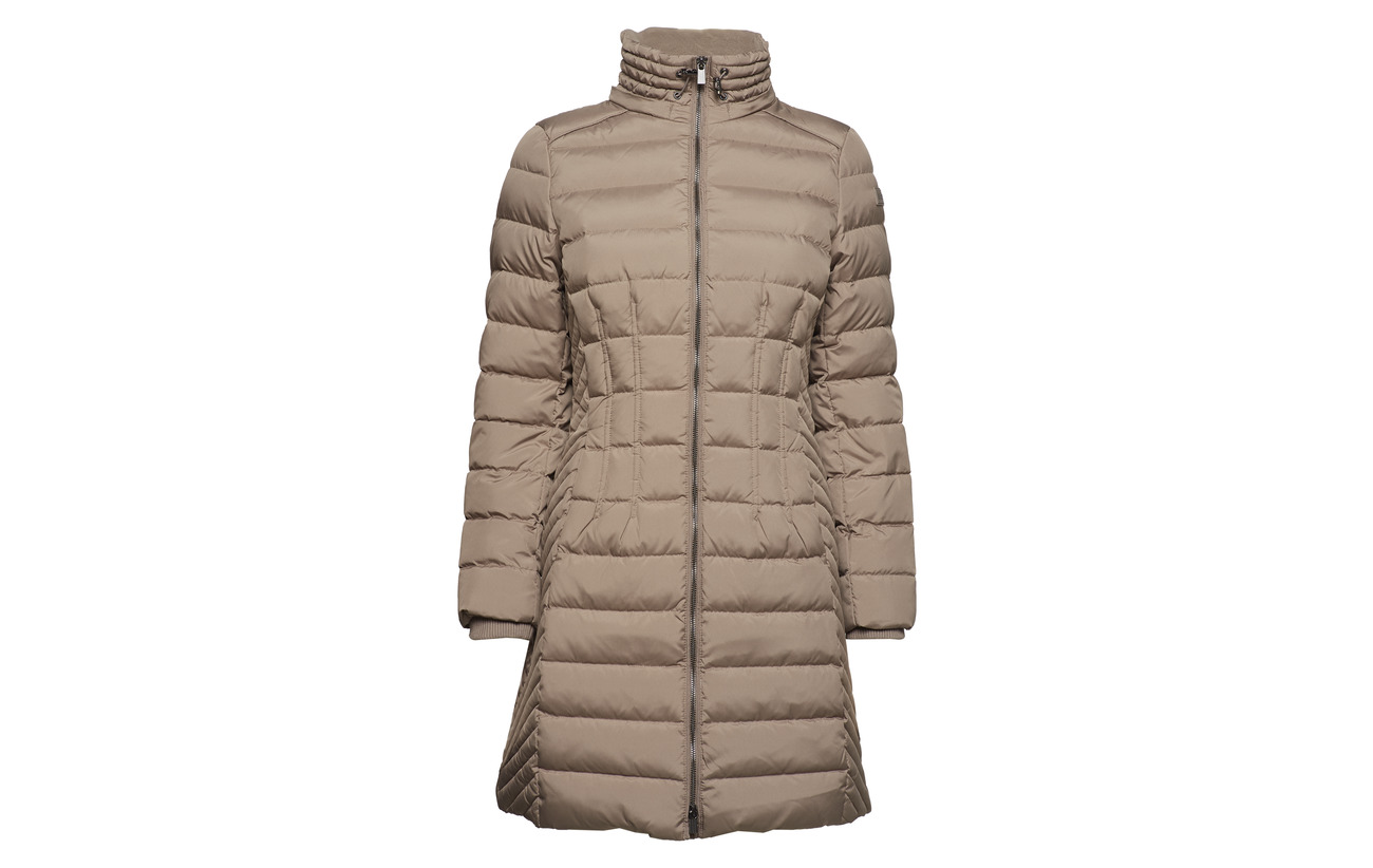 Esprit Coats 100 Polyester Woven Casual Taupe rS4qr8w
