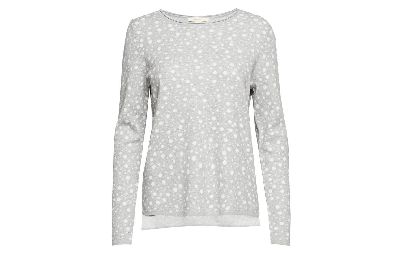 Medium Polyamide 2 Sweaters Elastane 90 Esprit Grey Casual 9 1 Coton 4SEZwqgn
