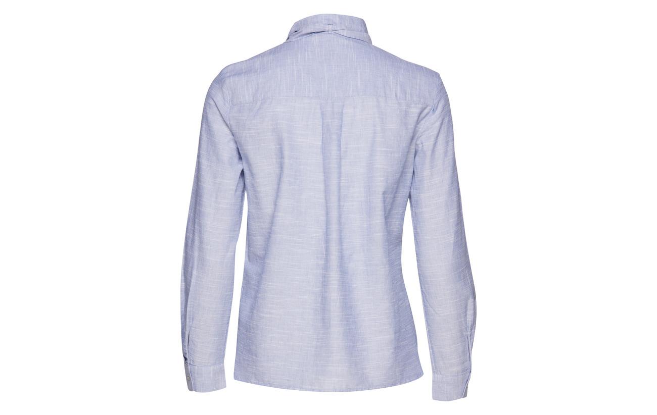 Blue Esprit Casual Coton Blouses Woven Light 100 qwp6Iw