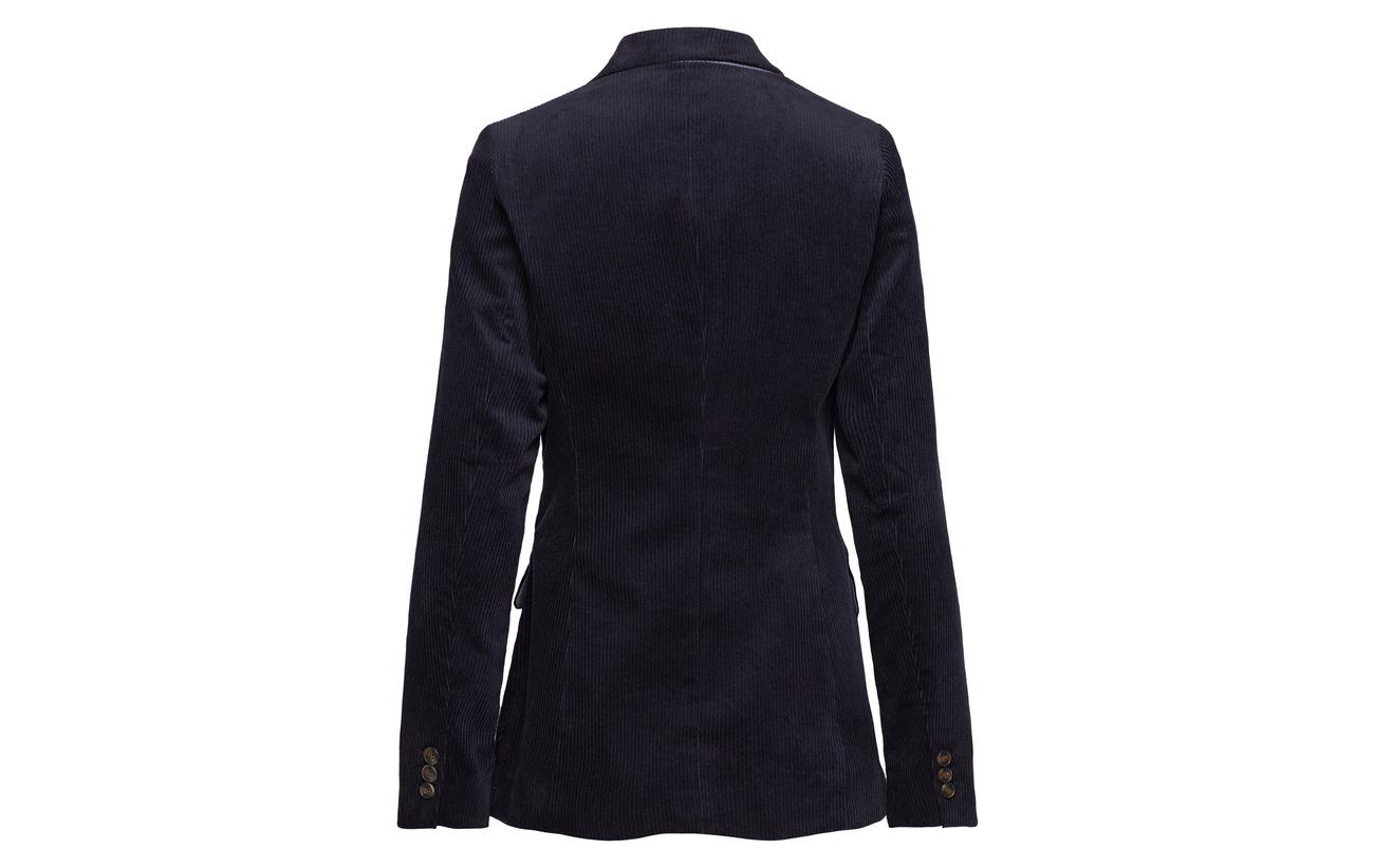 Navy 2 Woven Blazers Casual 98 Coton Esprit Elastane 6xqSPawxf
