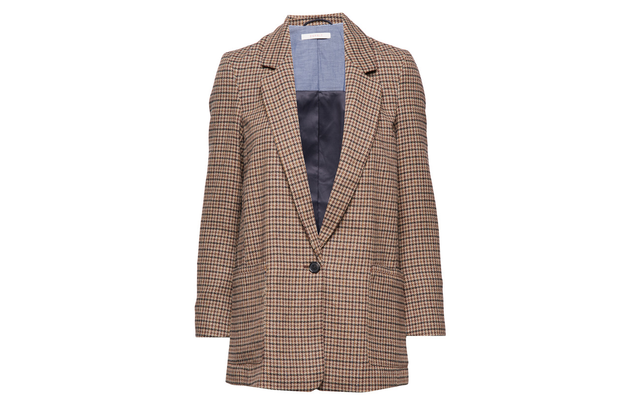 Esprit Woven 82 Blazers Other 13 Fabrics Casual Polyester Laine 5 Toffee xnHnqAIr