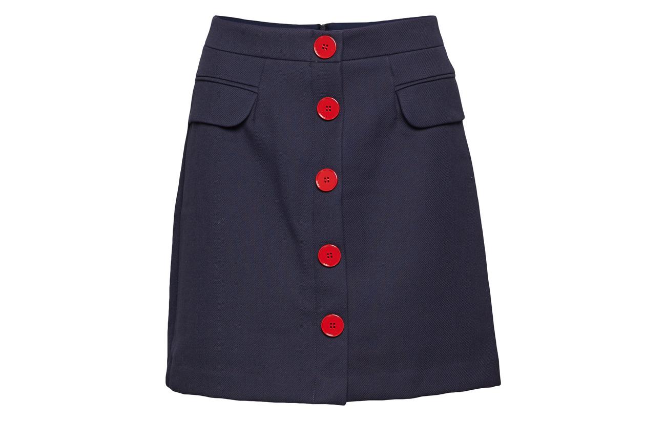 85 Navy Skirts 15 Esprit Woven Viscose Casual Polyester U7S8UqIn
