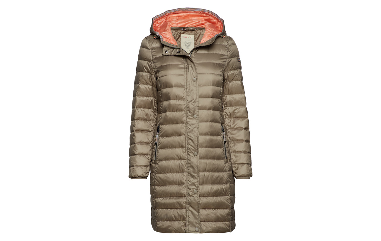 Casual Polyester Esprit Coats Taupe Woven 100 dfHfS