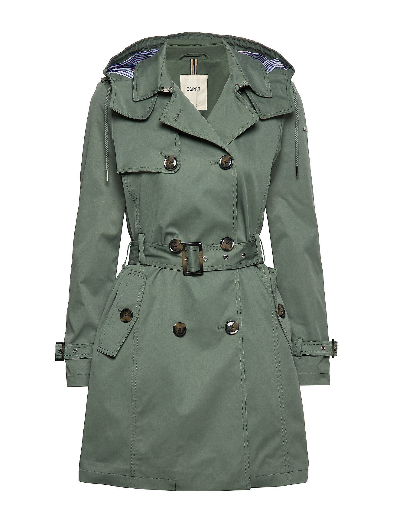 Esprit Casual Coats woven - KHAKI GREEN