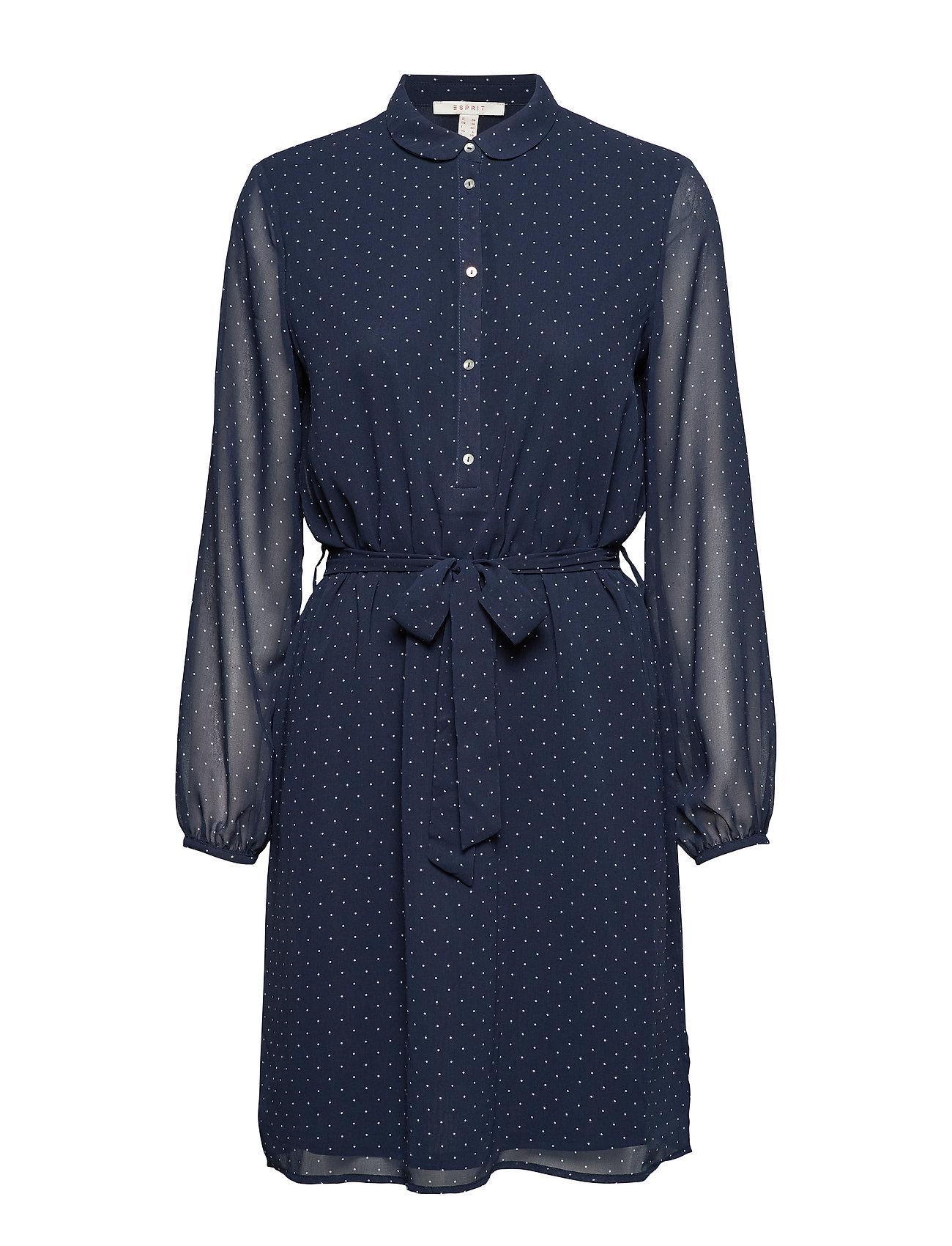 Esprit Casual Dresses light woven - NAVY