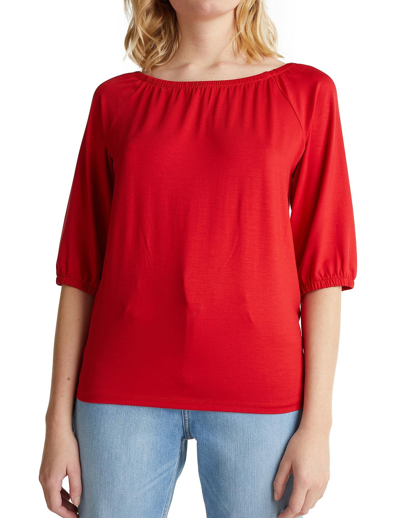 Esprit Casual - T-Shirts - basic t-shirts - dark red - 0