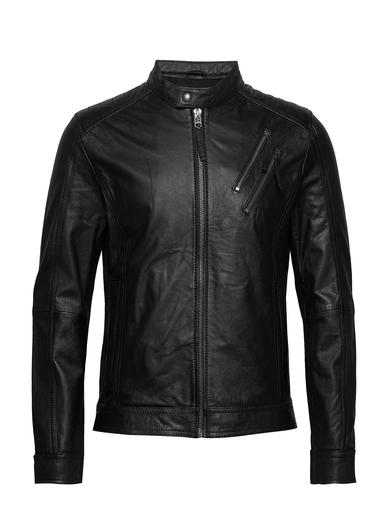 Esprit Casual Jackets outdoor leather - BLACK