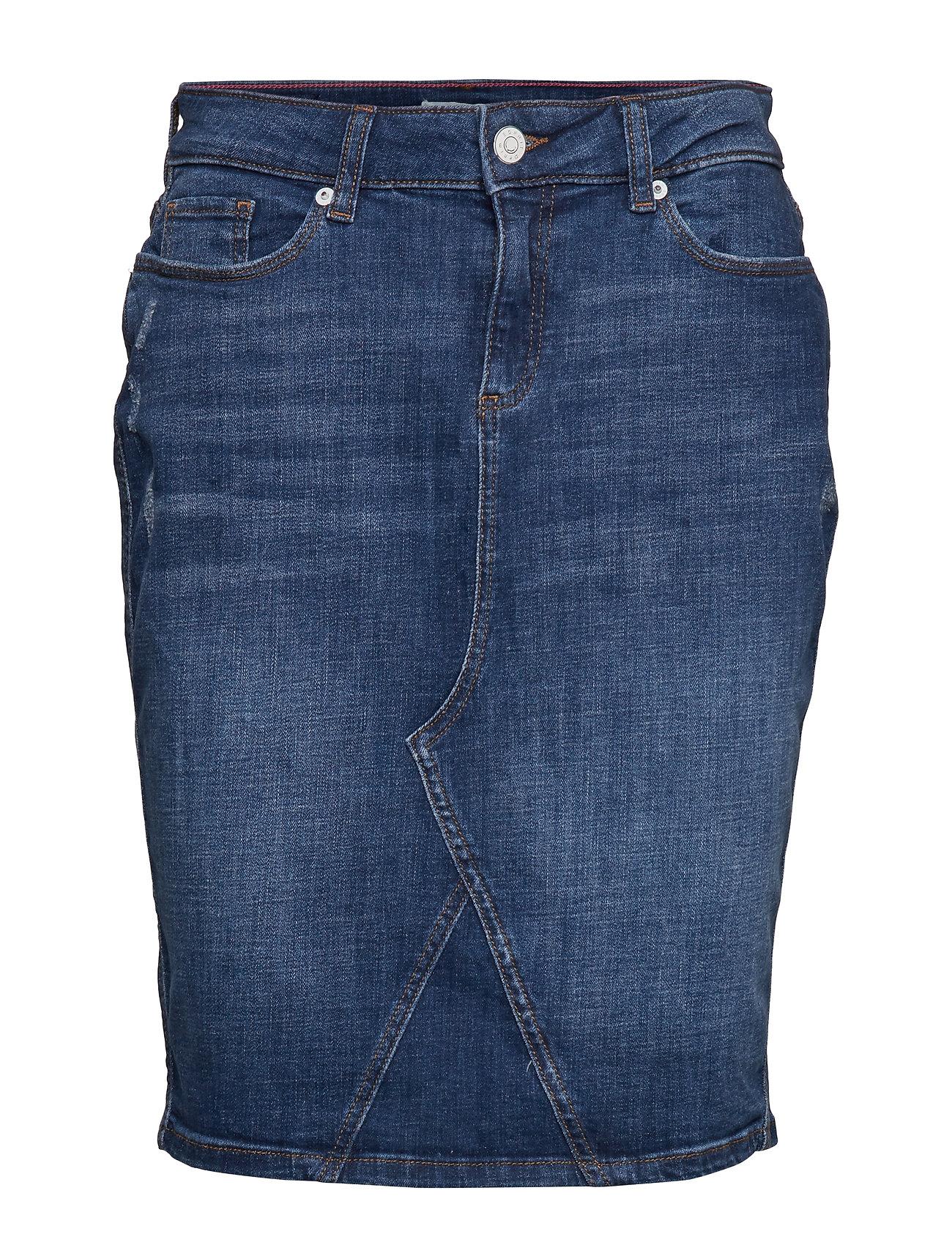 Esprit Casual Skirts denim - BLUE MEDIUM WASH