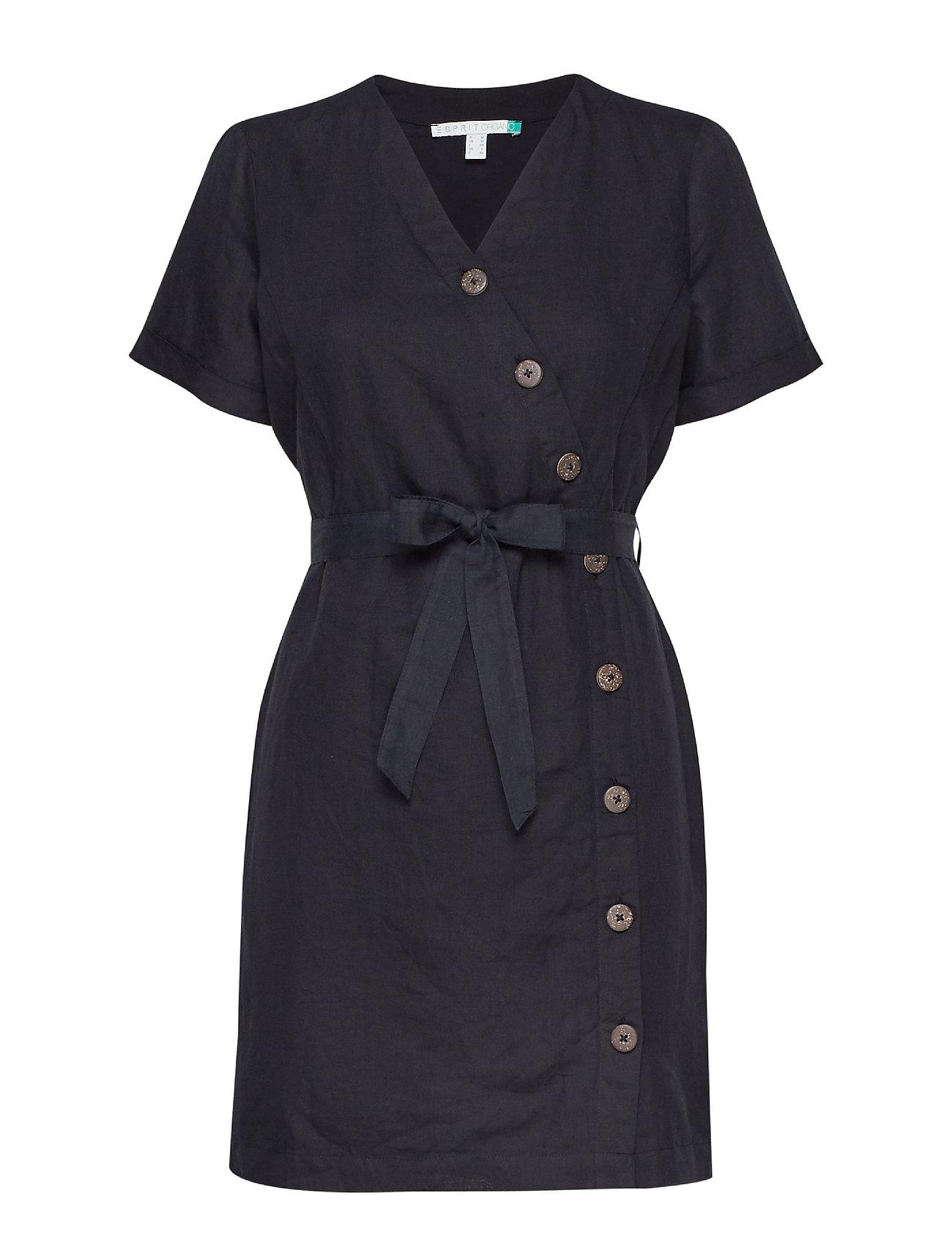 Esprit Casual Dresses light woven - BLACK