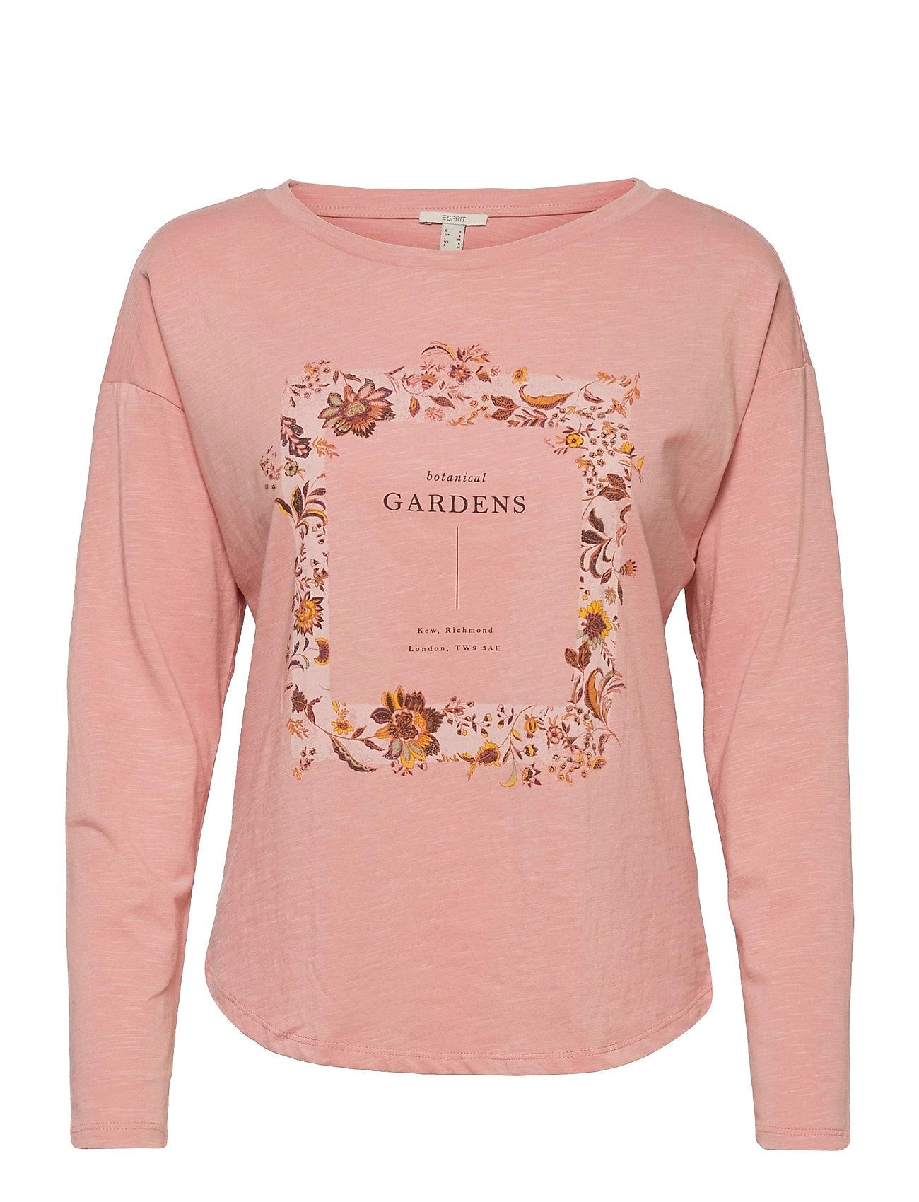 T-Shirts Langærmet T-shirt Lyserød Esprit Casual