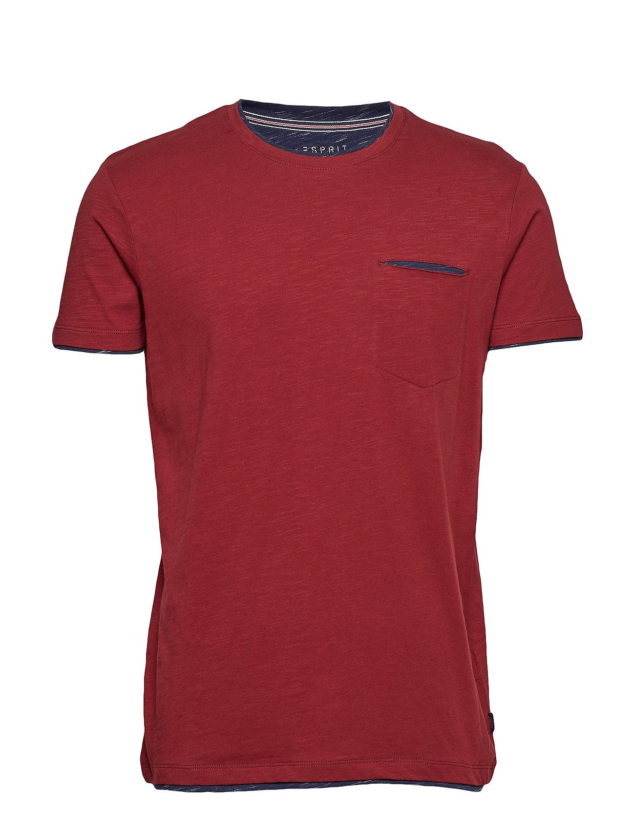 Esprit Casual T-Shirts - BORDEAUX RED
