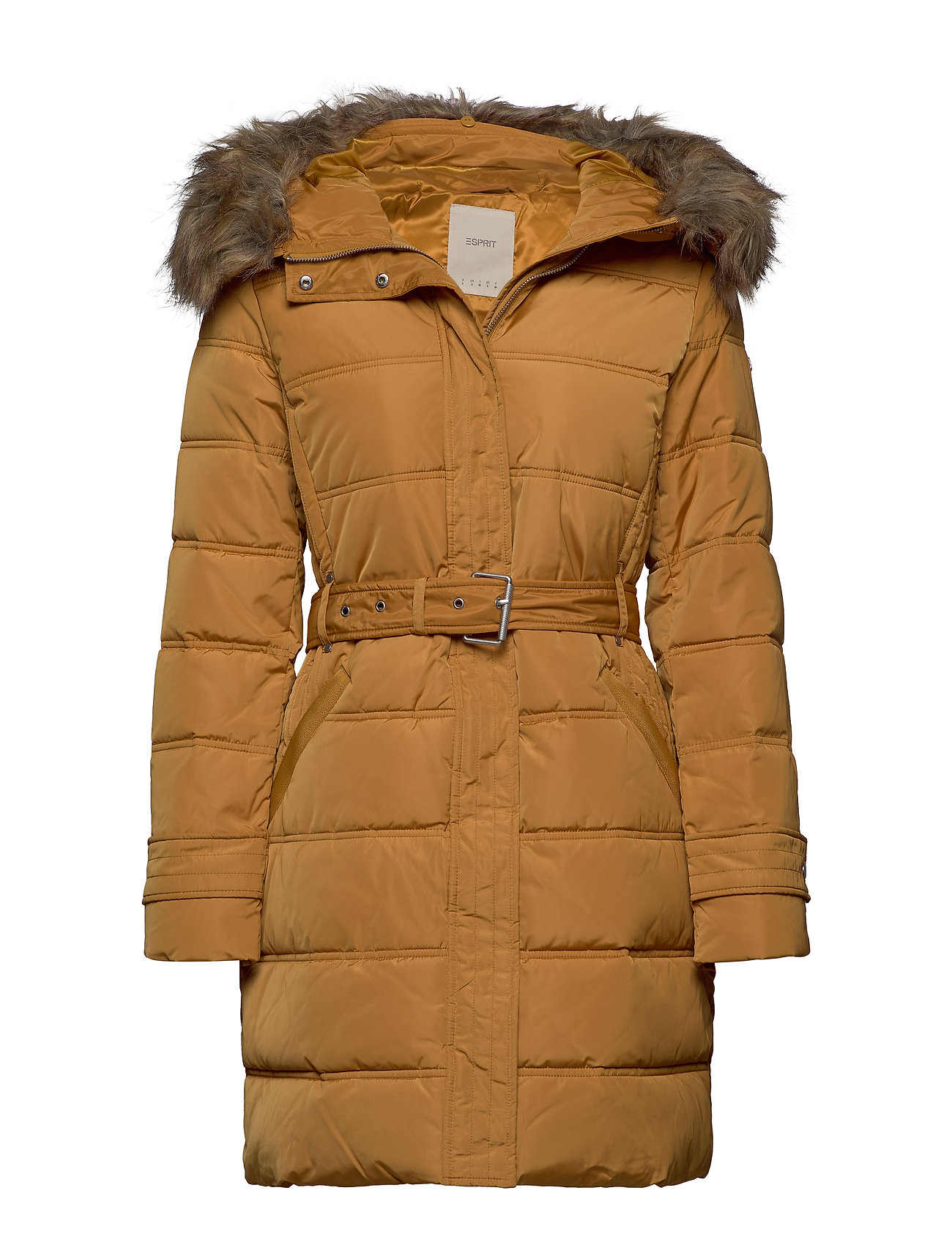 Esprit Casual Coats woven - AMBER YELLOW