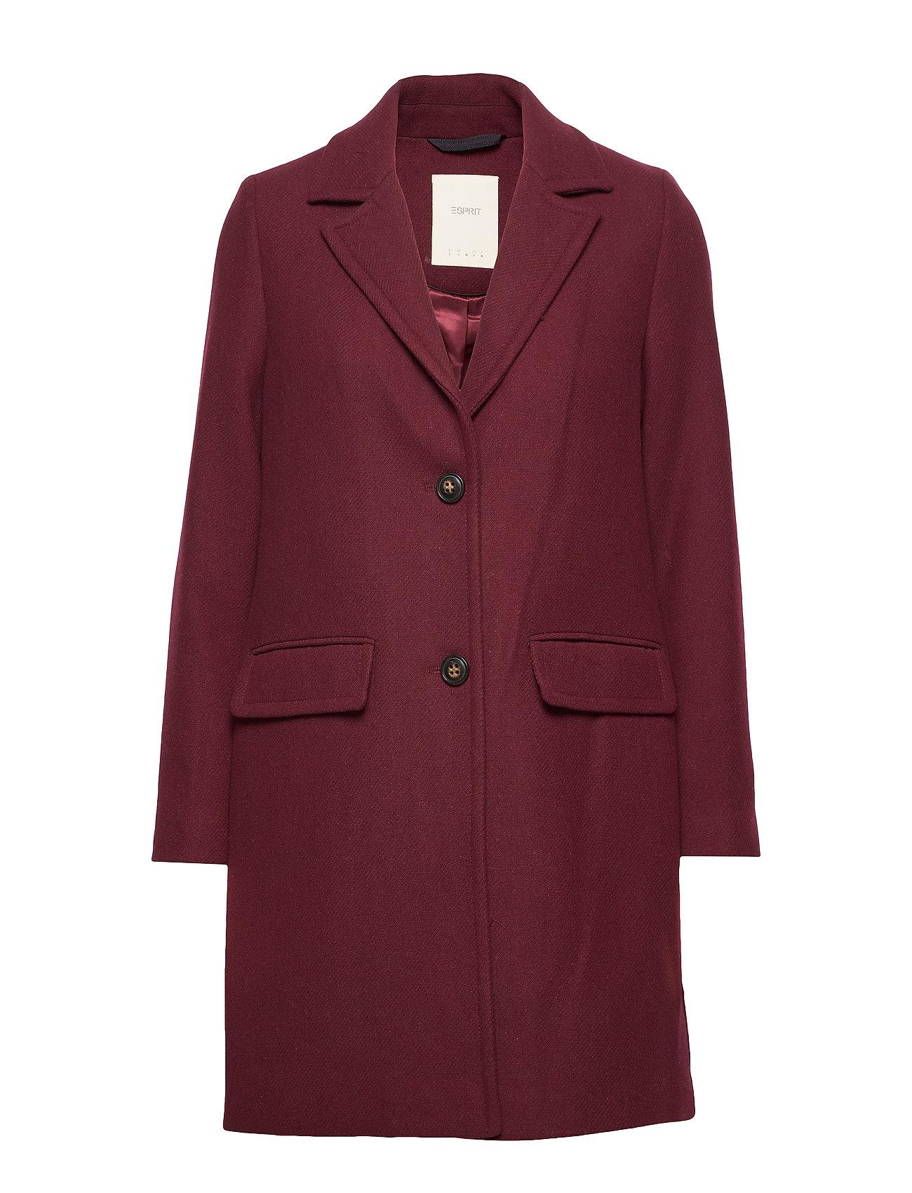 Esprit Casual Coats woven - BORDEAUX RED