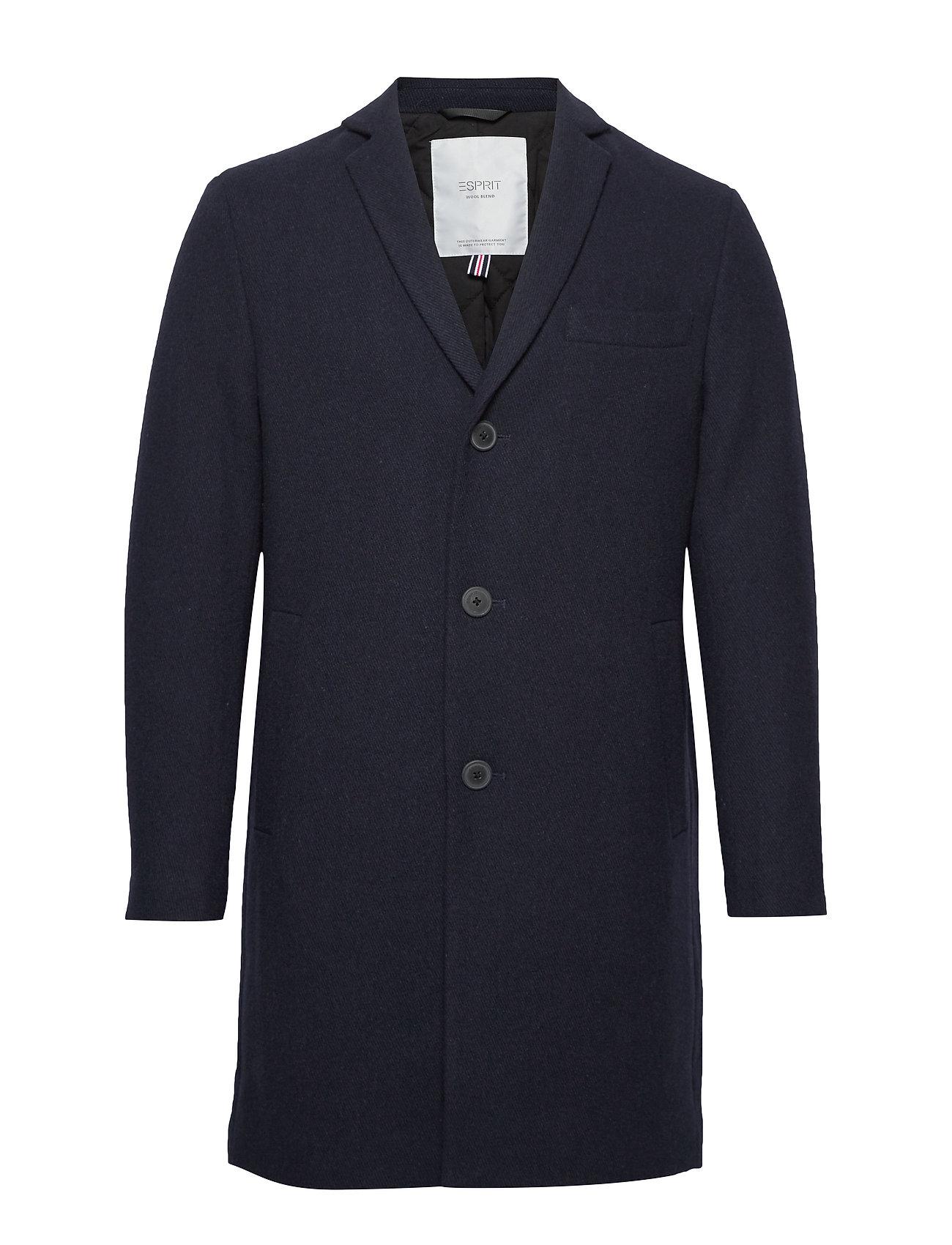 ESPRIT Coats Woven Wollmantel Mantel Blau ESPRIT CASUAL