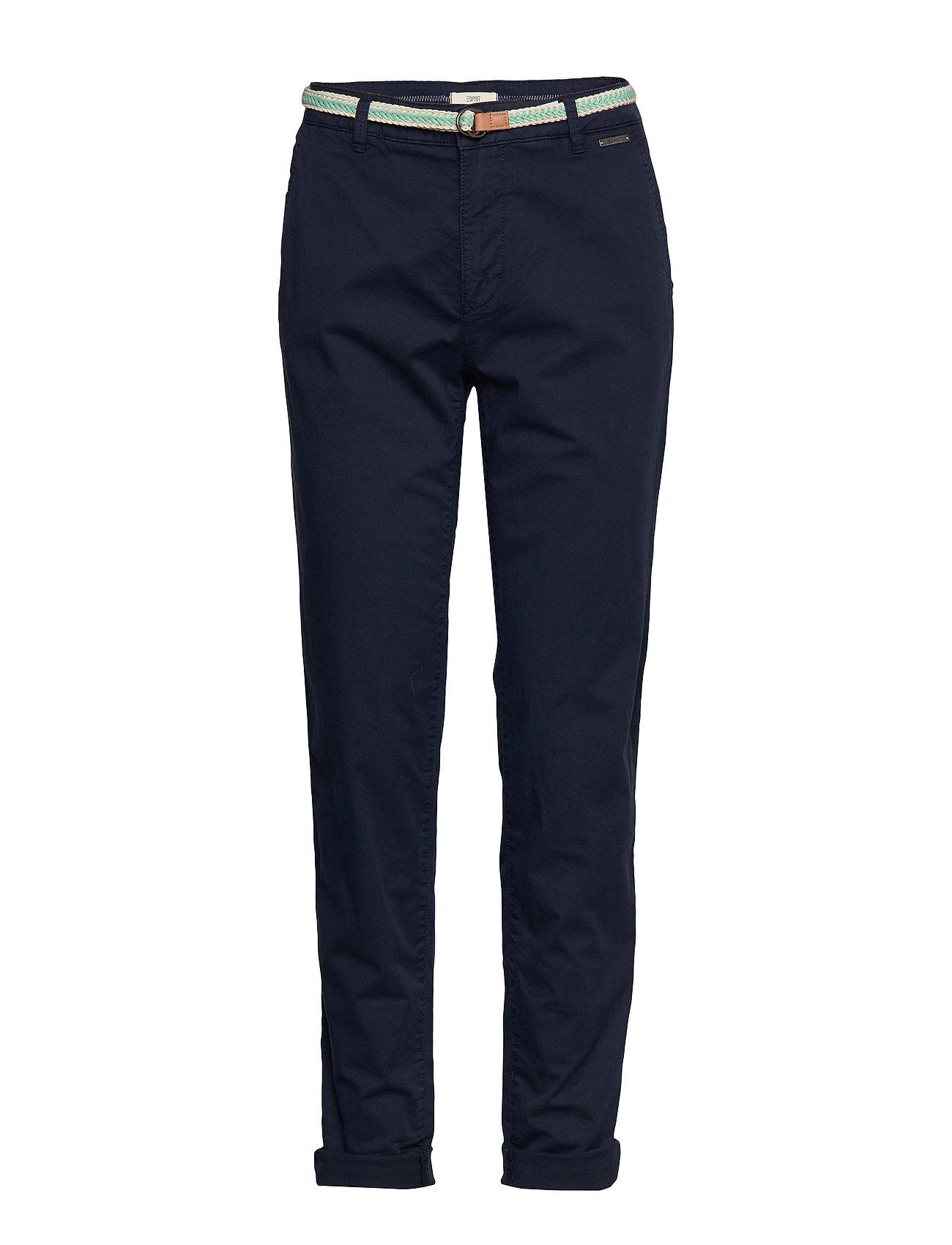 Esprit Casual Pants woven - NAVY