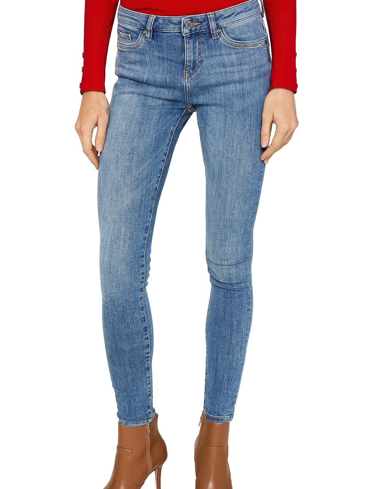 Esprit Casual - Pants denim - skinny jeans - blue light wash - 0