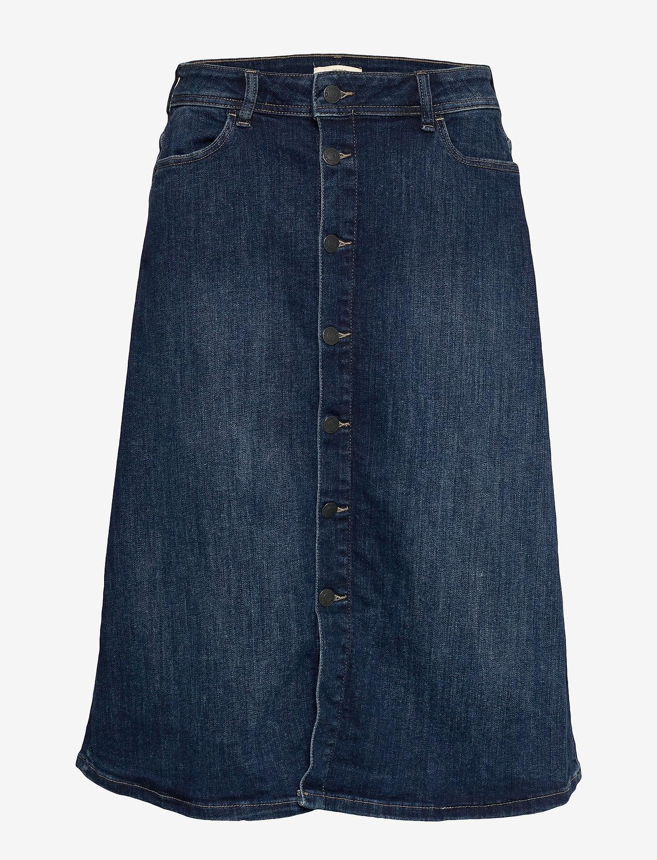 Esprit Casual - Skirts denim - denim skirts - blue medium wash - 0
