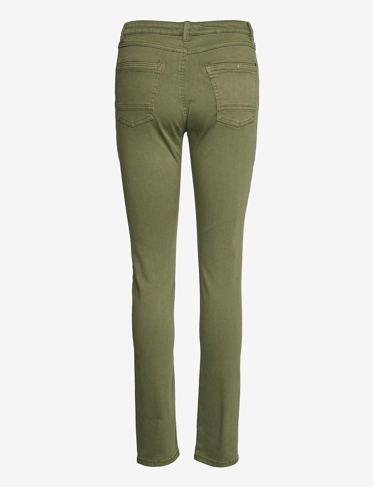 Esprit Casual - Pants woven - slim fit bukser - khaki green - 1