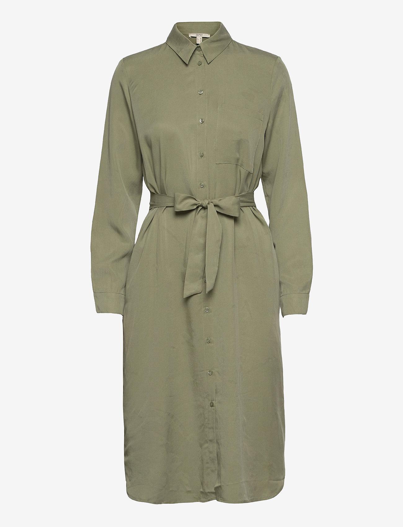 Esprit Casual - Dresses light woven - midi dresses - light khaki - 0