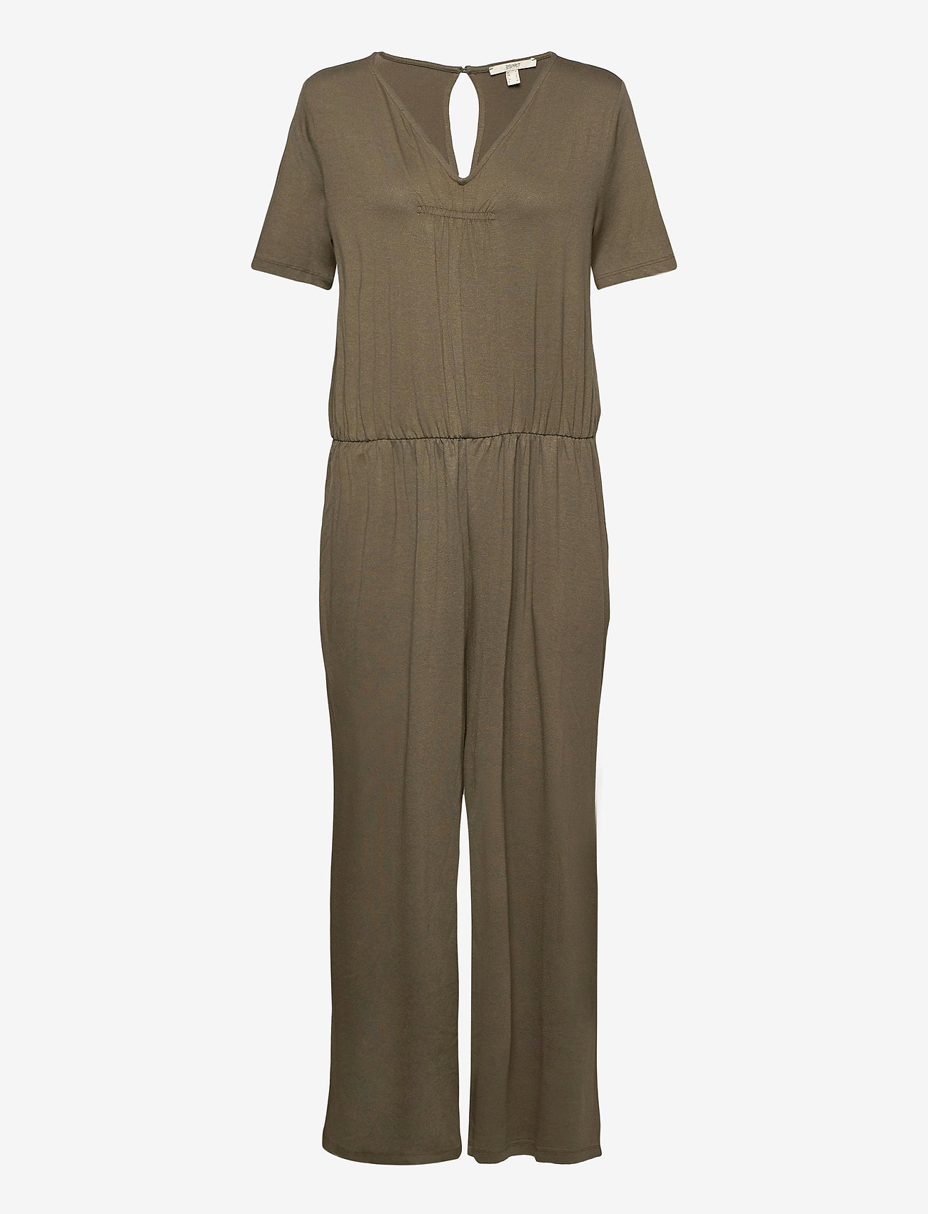 Esprit Casual - Overalls knitted - jumpsuits - khaki green - 0