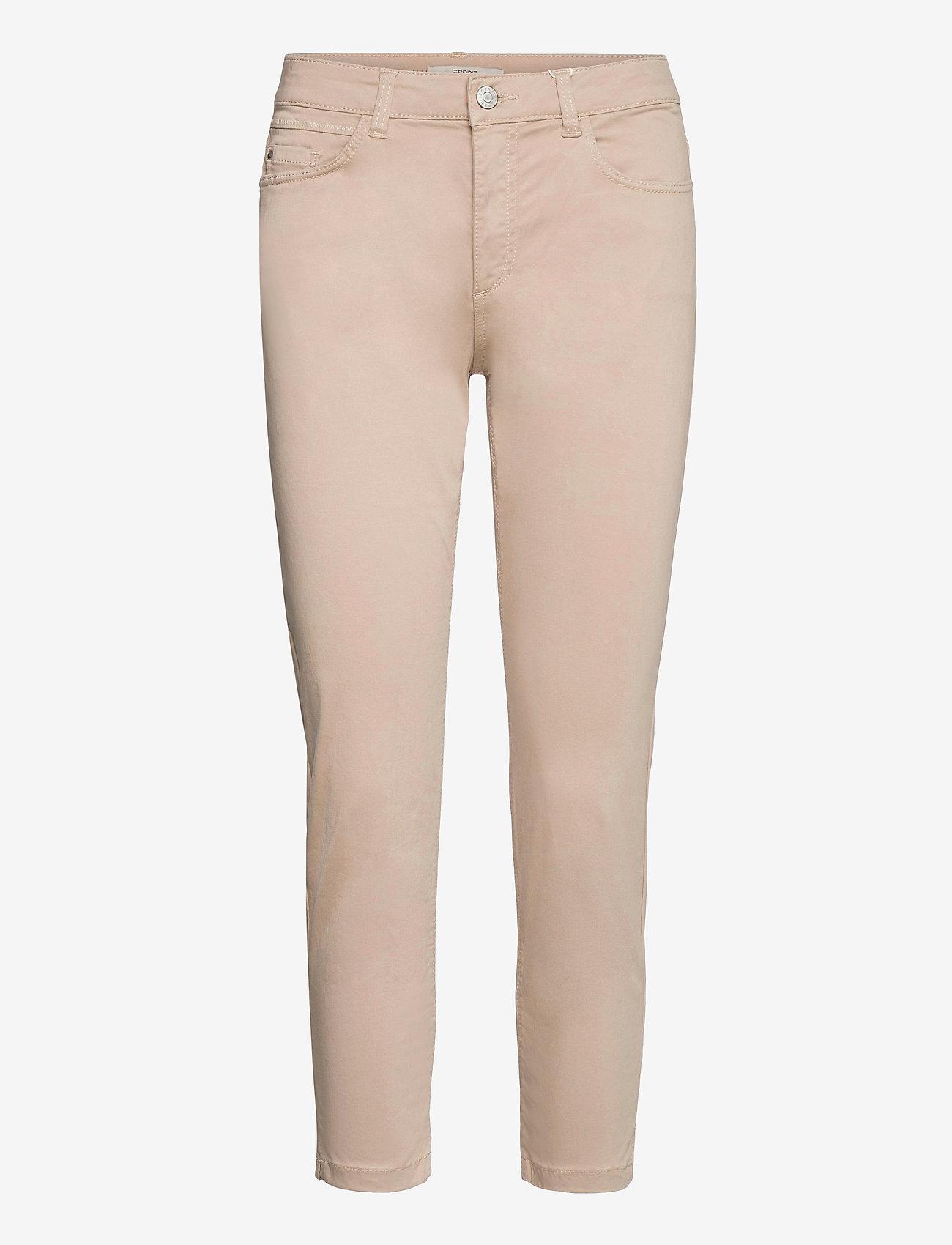 Esprit Casual - Pants woven - slim fit bukser - light beige - 0