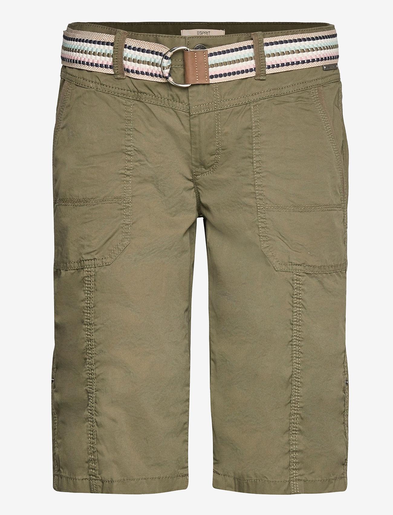 Esprit Casual - Shorts woven - bermudas - khaki green - 0