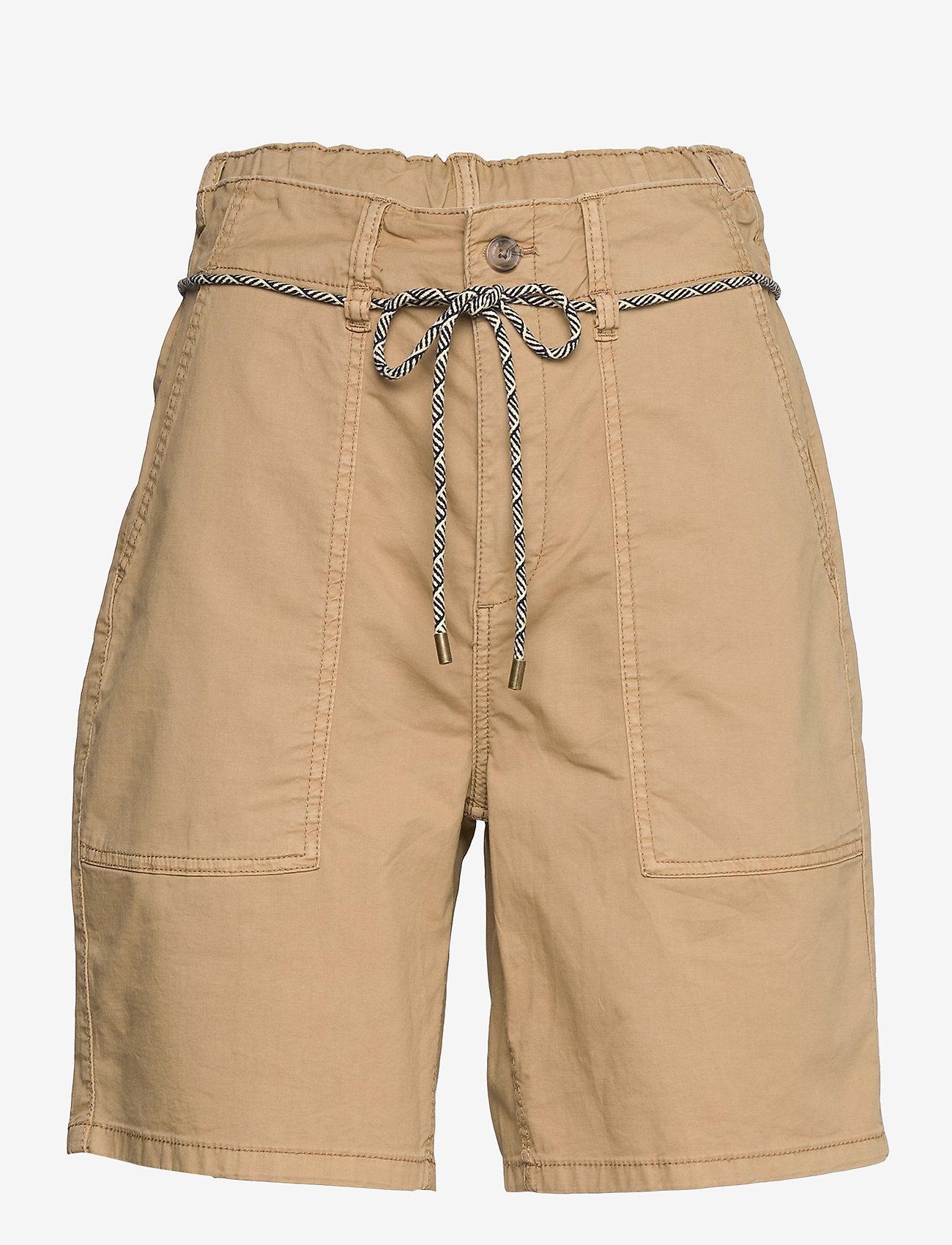 Esprit Casual - Shorts woven - chino shorts - camel - 0