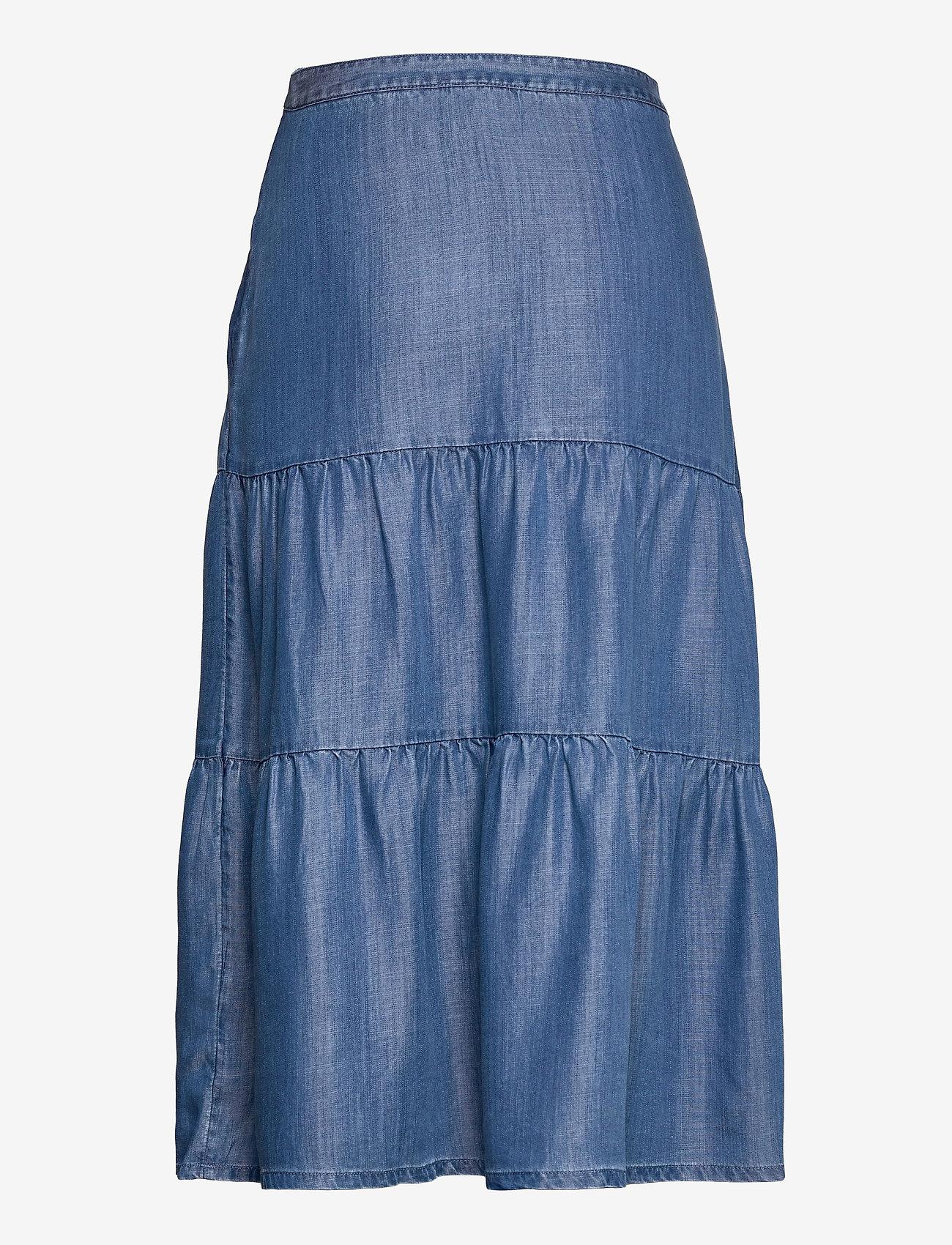 Esprit Casual - Skirts denim - midi nederdele - blue medium wash - 1