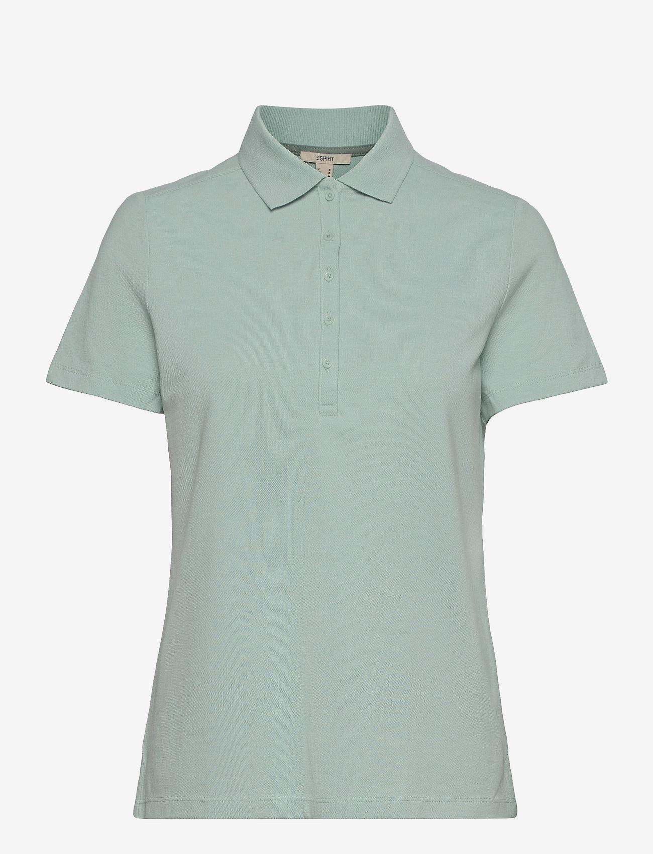 Esprit Casual - T-Shirts - polohemden - light aqua green - 0