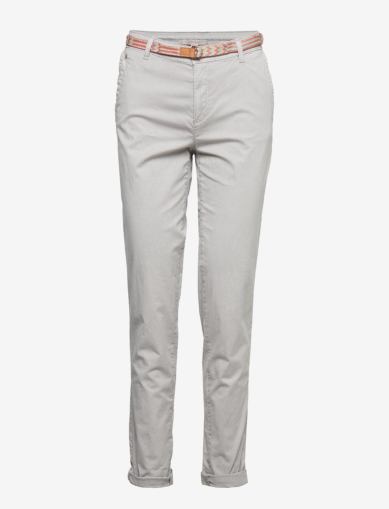 Esprit Casual - Pants woven - rette bukser - light grey - 0