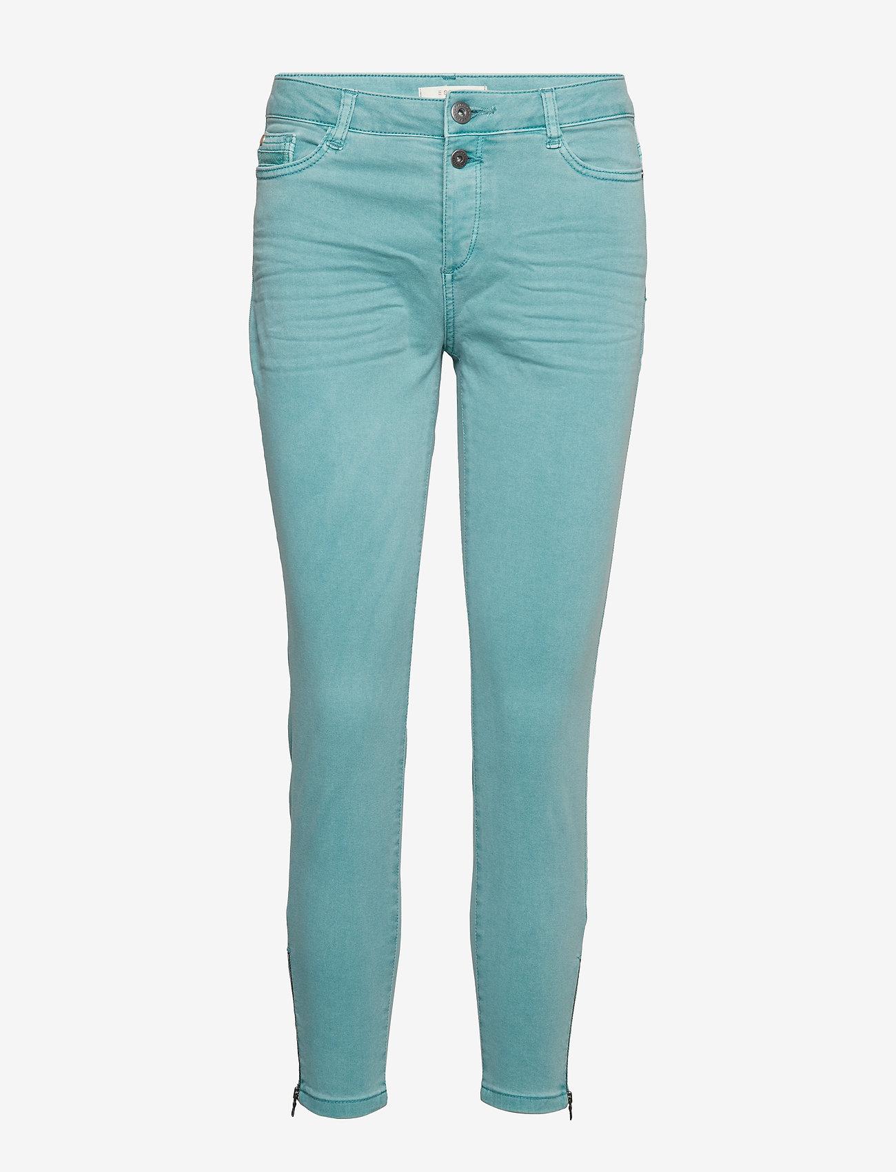 Esprit Casual - Pants woven - skinny jeans - light aqua green - 0
