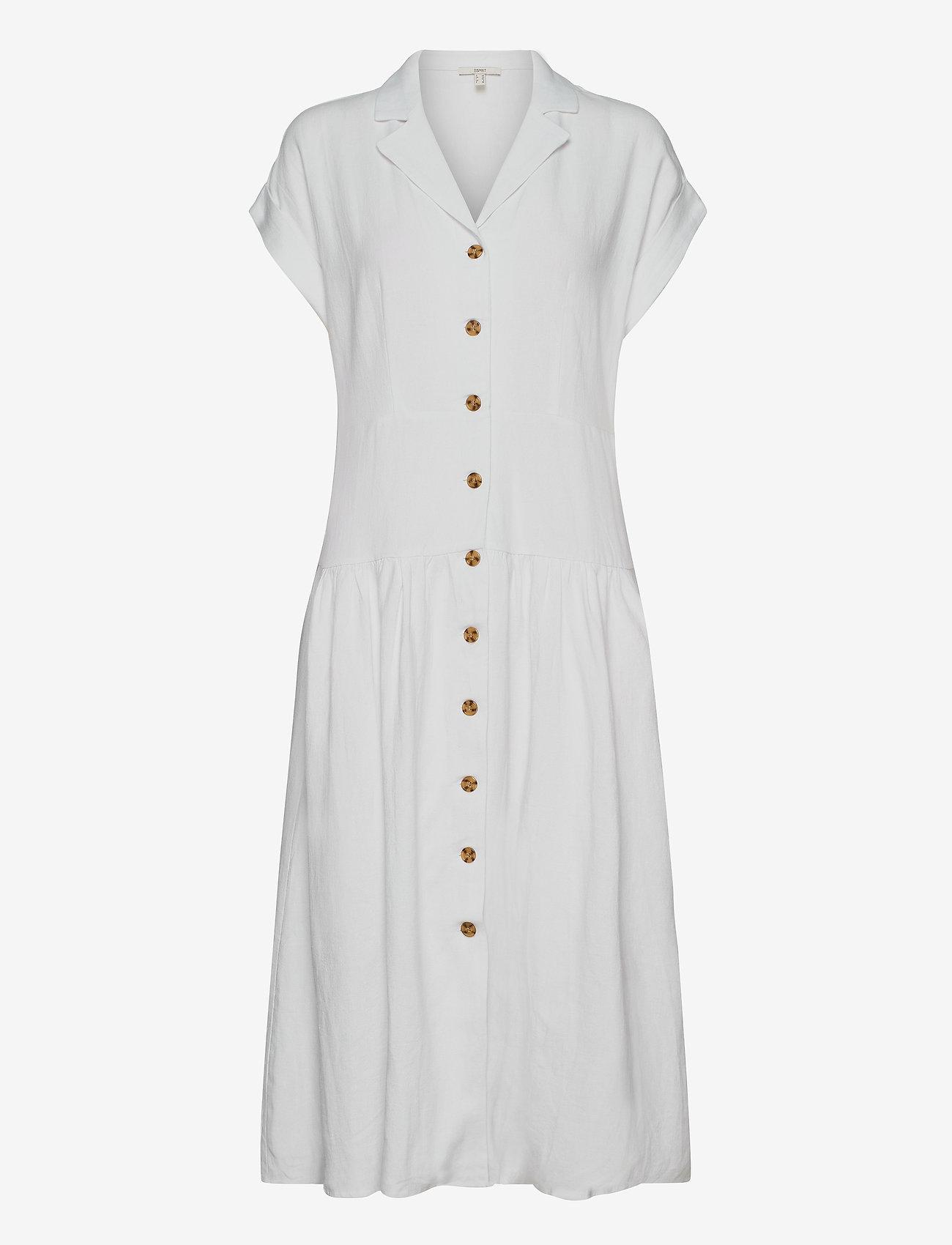 Esprit Casual - Dresses light woven - midi kjoler - white - 0