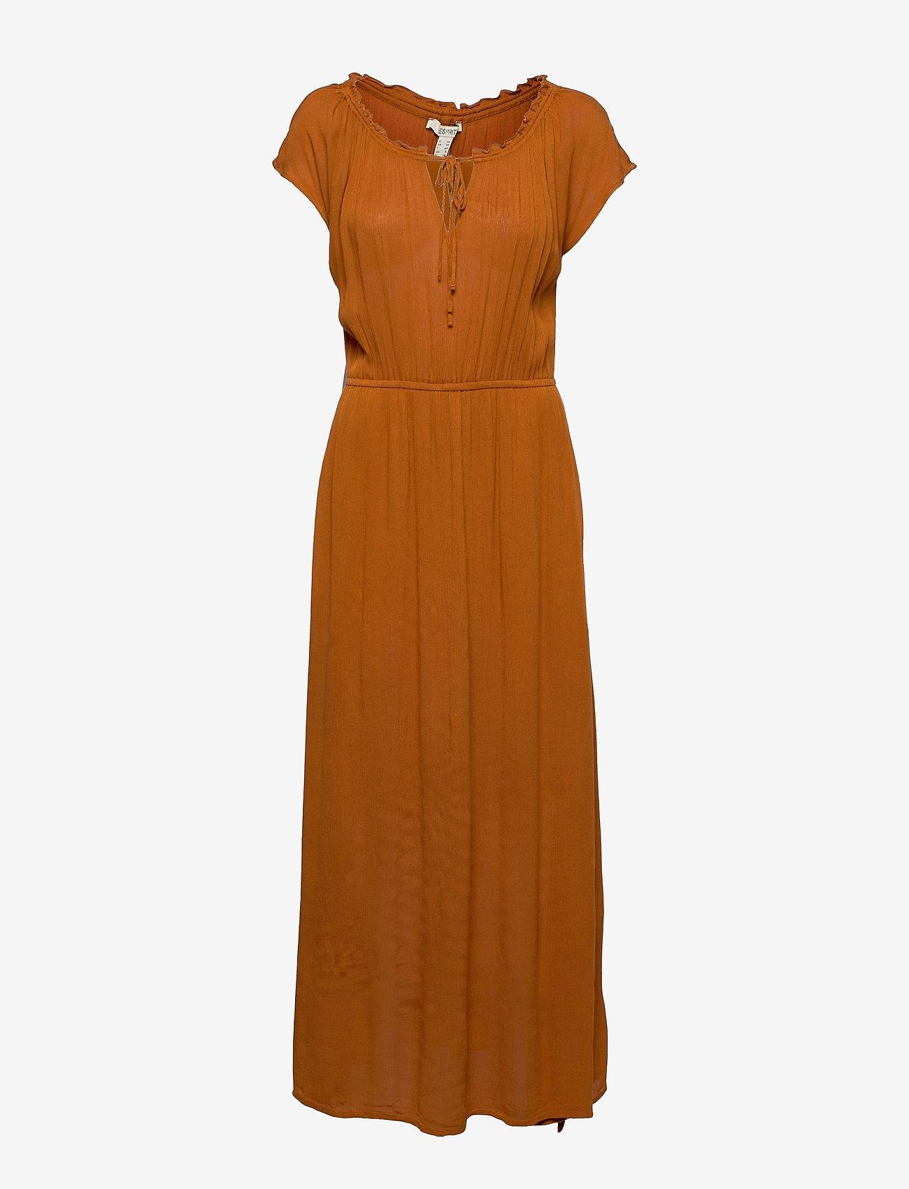 Esprit Casual - Dresses light woven - kveldskjoler - caramel - 0