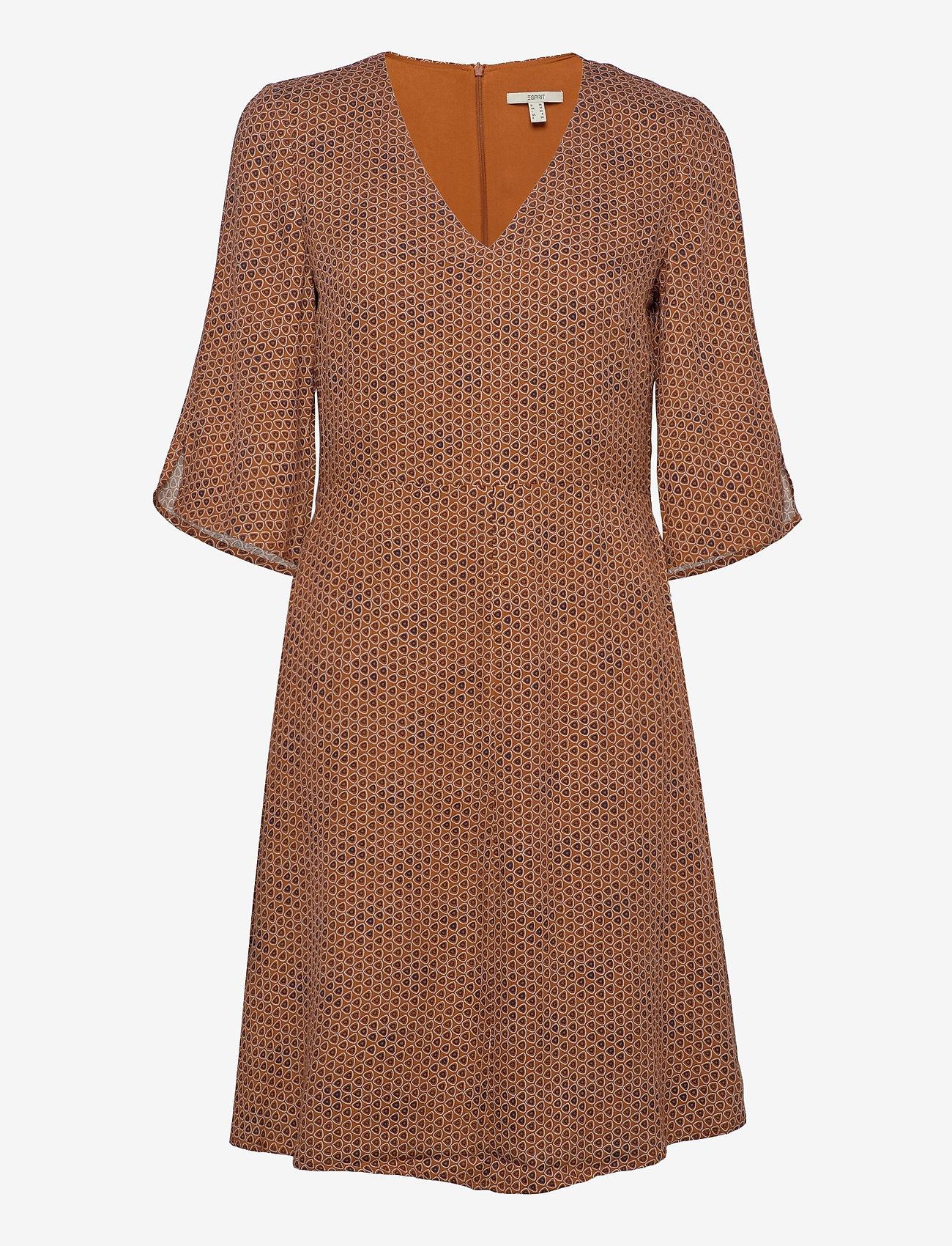 Esprit Casual - Dresses light woven - korte kjoler - rust brown 4 - 1