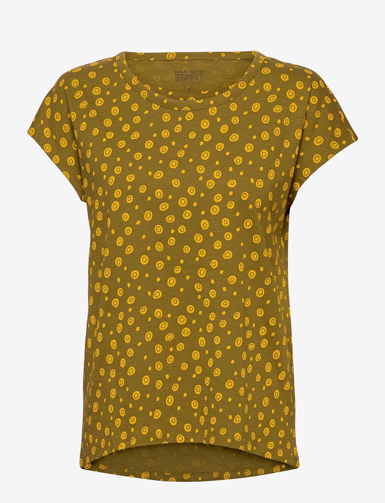 Esprit Casual - T-Shirts - t-shirts - olive - 0
