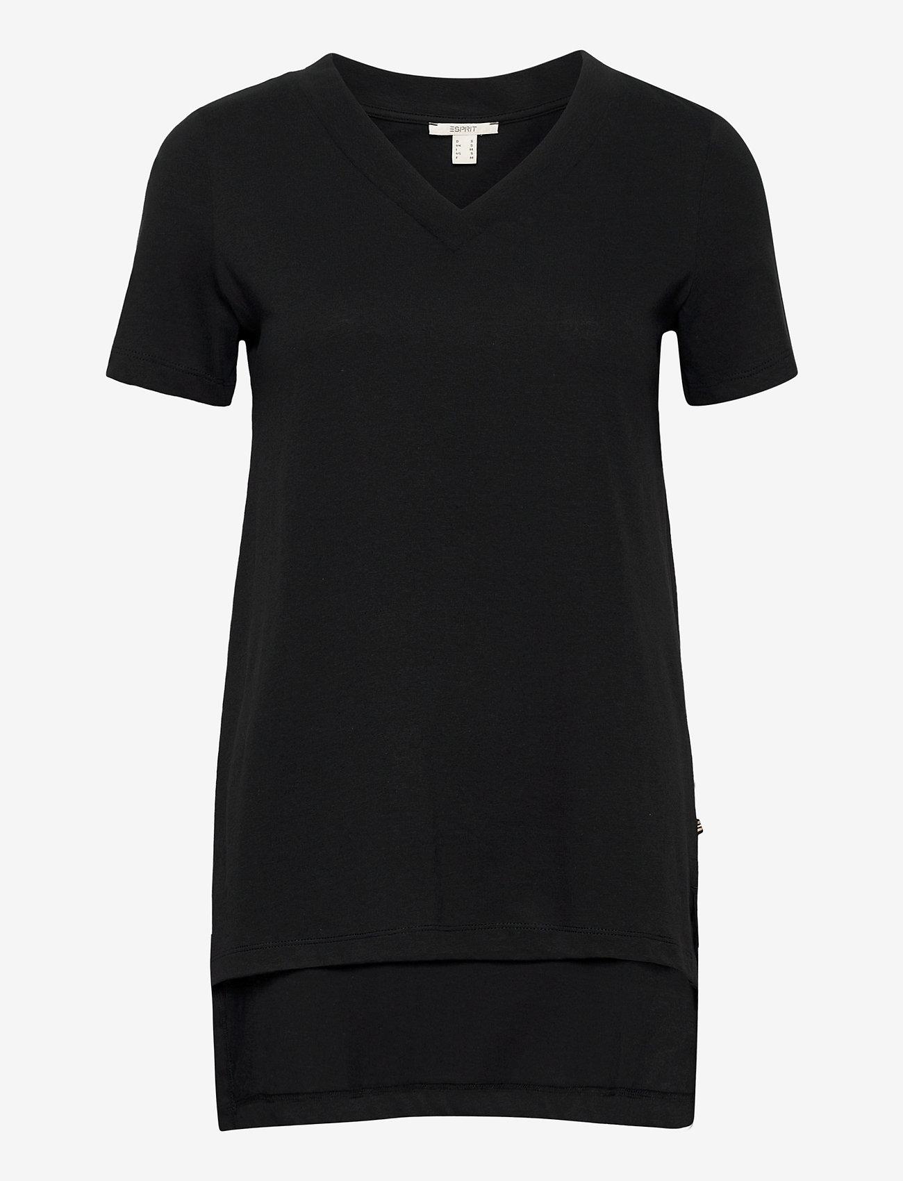 Esprit Casual - T-Shirts - t-shirts - black - 0