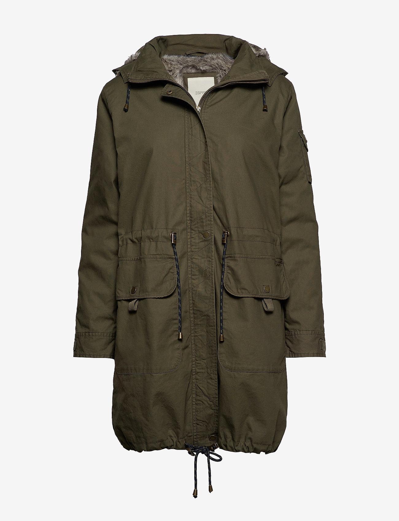 Esprit Casual - Coats woven - khaki green - 1