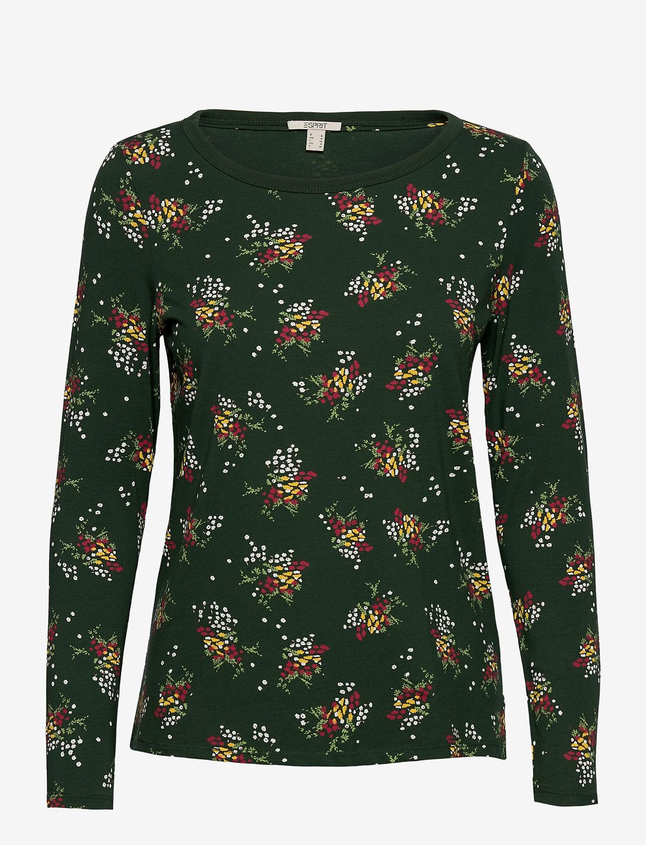 Esprit Casual - T-Shirts - long-sleeved tops - dark green - 0