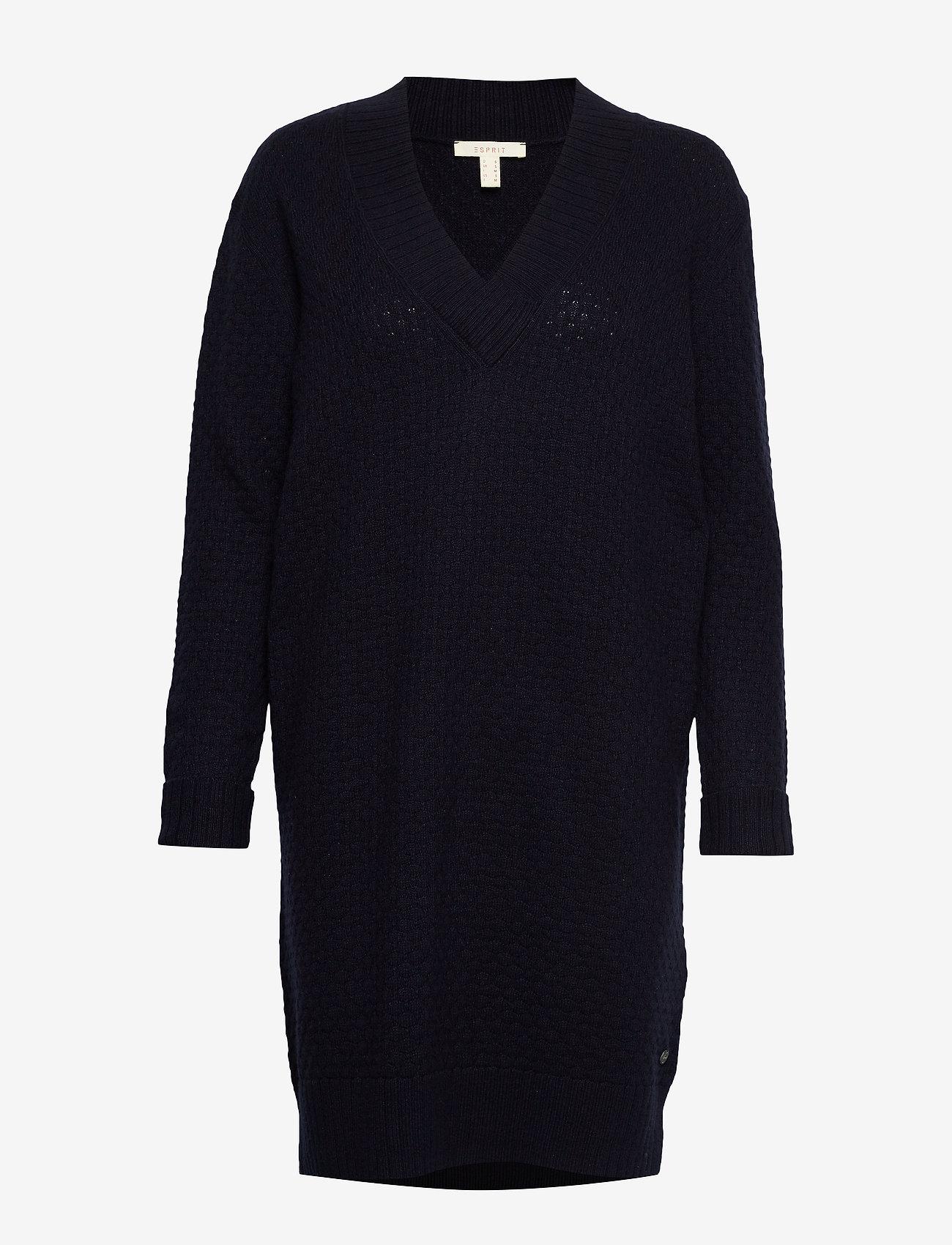 Esprit Casual - Dresses flat knitted - strikkjoler - navy - 0