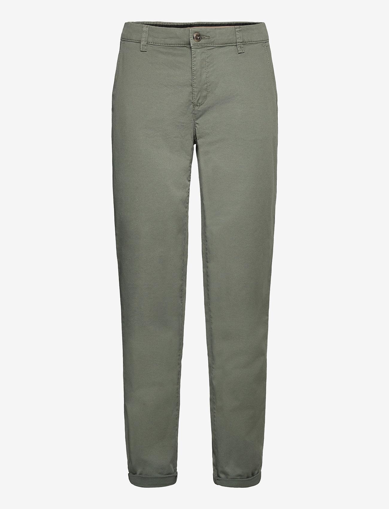 Esprit Casual - Pants woven - chinos - khaki green - 0
