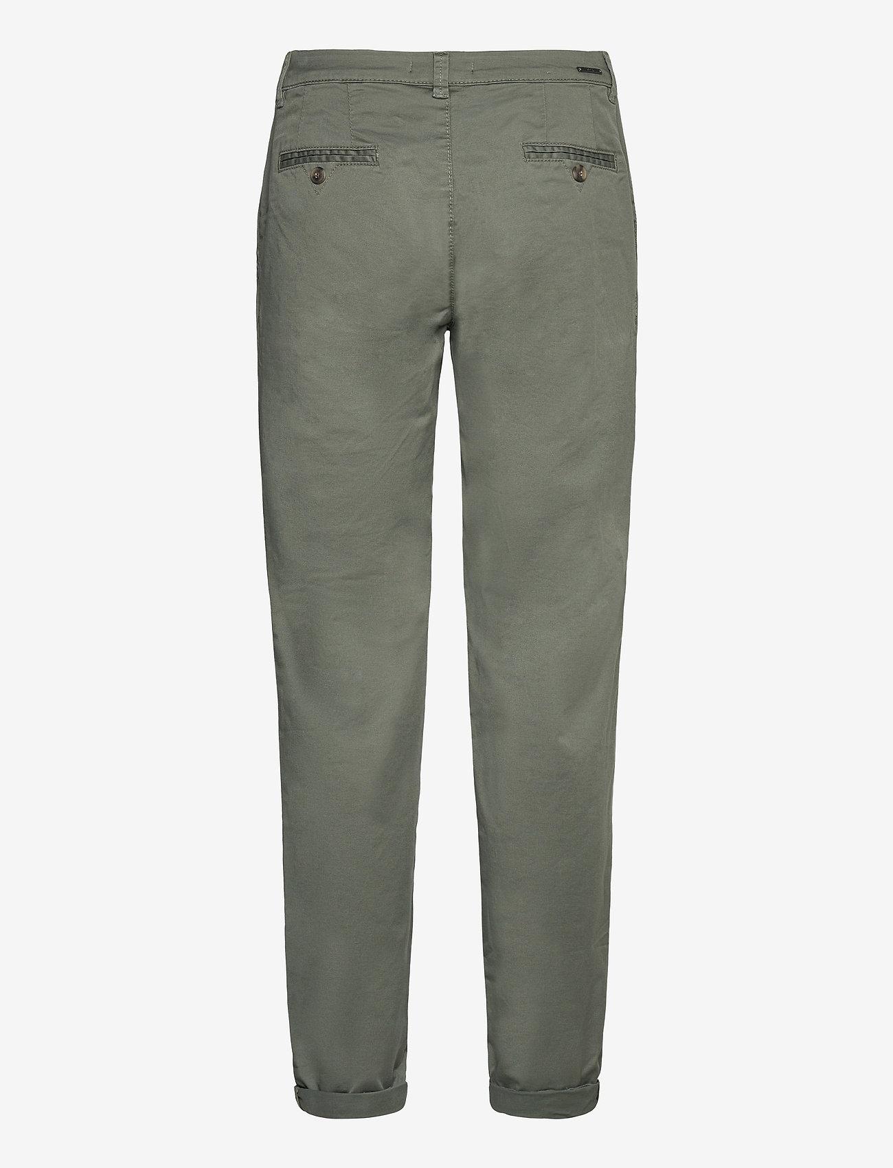 Esprit Casual - Pants woven - chinos - khaki green - 1